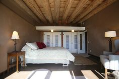 Corner Cottage Earthship Mater bedroom from south by Earthship Kirsten, via Flickr
