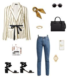 """Untitled #63"" by cristinestyle on Polyvore featuring Vetements, Mulberry, Roberto Collina, Karl Lagerfeld, BaubleBar and Michael Kors"