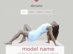 Шаблон для портфолио моделей, адаптивная вёрстка Bootstrap 3, секции демонстрации фото с описанием и страница с отдельной галереей.