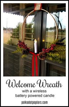 How to make this Christmas welcome wreath.