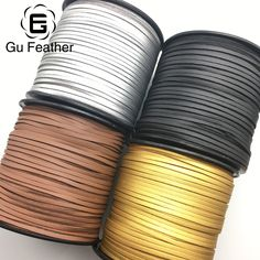 GUFEATHER 3MM 100 yards PU leather cord/jewelry accessories/jewelry findings/for the production of tassels/Etsy supplier