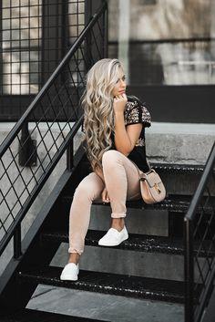 jessakae, casual wear, keds, zappos, blonde, blonde hair, hair, style, fashion, street style, womens fashion, chloe, spring, embroidered, blush pants
