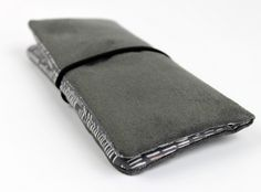 Handytasche, Täschchen, grau rauleder Artificial Leather, Mobile Phone Cases, Wool Felt, Wallet, Bags, Beautiful Bags, Gray, Leather, Nice Asses