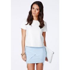 Lennia Wrap Over Mini Skirt - Skirts - Mini Skirts - Missguided
