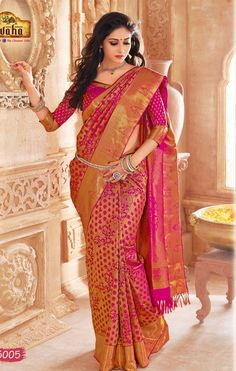 Vivaha Branded Wedding Silk Saree VBBS5005
