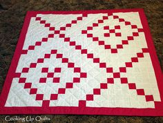 Hugs & Kisses Lap Quilt Designed and Made by by CookingUpQuilts