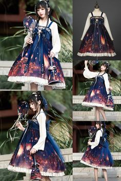 Beautiful Outfits, Cool Outfits, Fantasy Dress, Fashion Design Sketches, Japanese Outfits, Kawaii Clothes, Japanese Street Fashion, Cosplay Outfits, Character Outfits