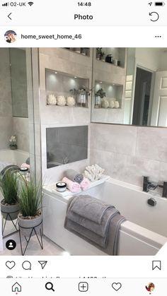 Sweet Home, Bathtub, House Styles, Bathroom Ideas, King Style, Bathrooms, House Ideas, Modern Kitchen Design, Modern Kitchens