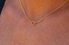Little Heart necklace. Minimalist necklace. by lizaslittlethings