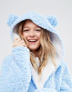 ASOS | ASOS Fluffy Cloud Robe with Ears