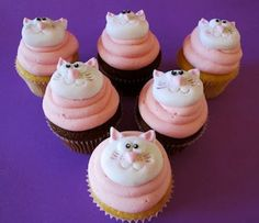 Kitty Cat Cupcakes  Need a quick sugar fix? This week's Kitty Cat Cupcakes were made by Queen of Tarts , custom made novelty cakes, cupcak...