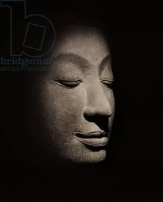 Buddha head from the early Ayutthaya Period (stone)