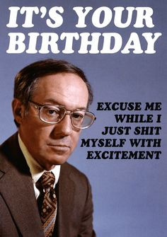 60e6a82d1 Rude card - Birthday - Shit myself with excitement | Comedy Card Company  Rude Birthday Cards