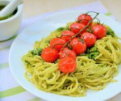 Yummy & Healthy Spaghetti Recipe With Arugula Pesto »