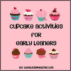 Cupcake File Folder Activities for Sorting, Counting, & Patterns by theautismhelper.com