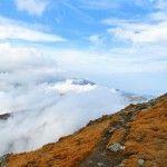 Clouds below Negoiu Peak (The Carpathians), 2535 meters.