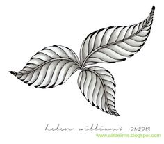 a little lime: Challenge #101 - Phicops to draw leaves