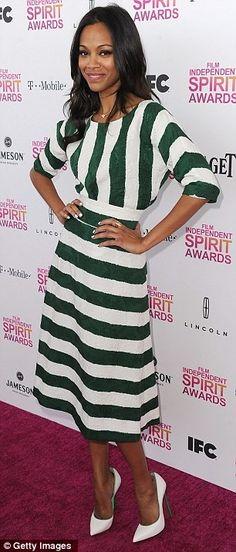 Zoe Saldana styling a modest dress!