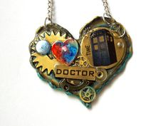 Time Travel Necklace At the Heart of a by TimeMachineJewelry