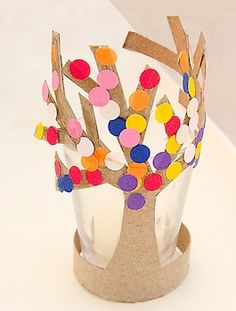 toilet paper tube spring tree (from Creative Jewish Mom on The Crafty Crow)