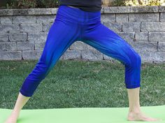 Blue Flame Yoga Pants feature beautiful color and a truly unique print. Bring on the heat at #yoga practice!