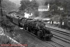 N&W Class Y6 2125 on loaded eastbound coal train at Lick Branch, WV