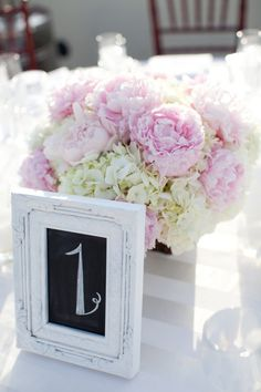 Pink peonies and white hydrangeas. Photography by michaelandannacosta.com, Wedding Planning by trueblueevents.com, Floral Design by juniperfloraldesigns.com