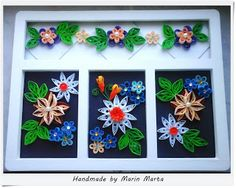 Quilling art by Marta Marin: Tablou Quilling Nr.15