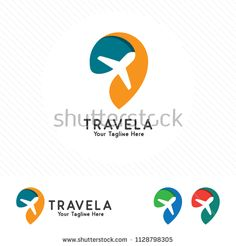 Travel and tour logo concept, airplane icon with pin map symbol. Travel and tour logo concept, airpl Travel And Tours Logo, Travel Logo, Tour Logo, Logo Voyage, Airplane Icon, Map Logo, Map Symbols, Business Cards Layout, Logos