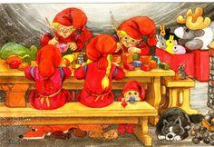 . Christmas Holidays, Christmas Crafts, Xmas, Christmas Printables, The Elf, Old World, Troll, Illustrators, Scandinavian