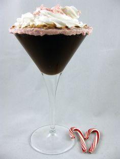 Holiday Chocolate Peppermint Martini #vegan