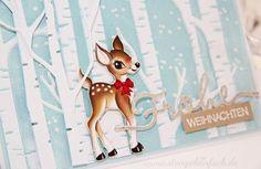 stempel einfach: Babi ♥ Stampin up Designerpapier Heimelige Weihnachten, Prägeform Im Wald, Stampin up by www.stempeleinfach.de