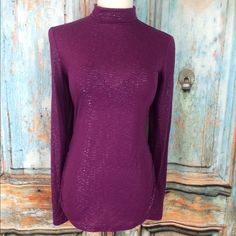 """Spotted while shopping on Poshmark: """"Gorgeous long-sleeved purple top""""! #poshmark #fashion #shopping #style #laundry by Shelli Segal #Tops"""