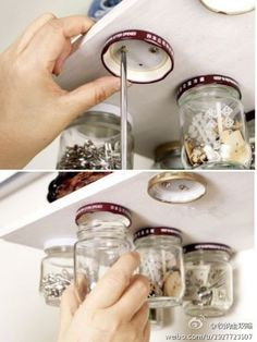5 Creative Storage Ideas For Tiny Things – Garage Organization DIY Storage Shed Organization, Garage Organisation, Garage Tool Storage, Garage Tools, Diy Kitchen Storage, Diy Storage, Storage Ideas, Organizing, Small Storage