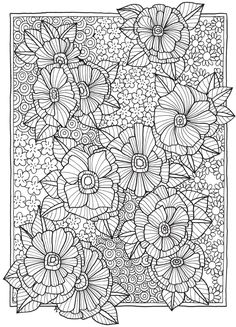 Creative Haven Entangled Gardens Coloring Book Colouring Pages, Adult Coloring Pages, Coloring Sheets, Free Coloring, Creative Haven Coloring Books, Nature Words, Dover Publications, New Hobbies, My Flower