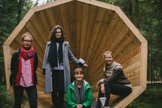 Students Build Giant Wooden Megaphones To Listen To The Forest