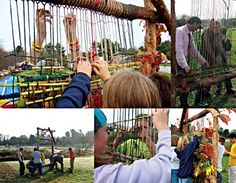 Earth Loom - weaving with the community!