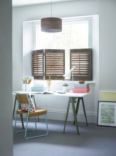 Looking for cafe style shutters? The Shutter Store offers only high quality window shutters in a wide selection of materials, styles & colors. Cafe Style Shutters, Interior Window Shutters, Contemporary Interior Shutters, Best Interior Paint, Best Interior Design, Diy Interior, Shutter Designs, Futuristic Interior, Uk Homes