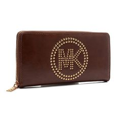 You Can Find Your Favorite Michael Kors Fulton Stud Logo Large Coffee Wallets In Our Online Shop! #Michael Kors They seem pretty good!