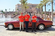 Chairman Founder Adgeco Group Mohamed Dekkak Private Exclusive Collection Rolls Royce Flying Spur Limited Edition at Emirates Palace with Hassan V.P and Ibrahim Nokra