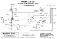 12SL7 SRPP / Push-Pull EL34, KT77, 6L6GC, 6550, KT88, KT90 Tube Amp Schematic