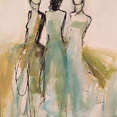 Holly Irwin Fine Art - The little thins - Event planning, Personal celebration, Hosting occasions Contemporary Abstract Art, Modern Art, Figure Painting, Painting & Drawing, Figure Drawing, Art Des Gens, Art Sur Toile, Art Et Illustration, Inspiration Art