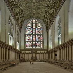 The Chapter House Medieval Stained Glass, Canterbury Cathedral, British Isles, Stained Glass Windows, Barcelona Cathedral, Survival, Building, Image, House
