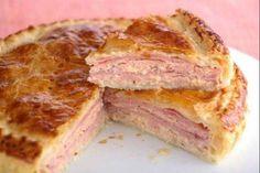 Pastel de jamón york y pollo