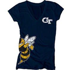 Georgia Tech Yellow Jackets Women's Navy Cossett Mascot Deep V-Neck Tee  $21.99 http://www.fansedge.com/Georgia-Tech-Yellow-Jackets-Womens-Navy-Cossett-Mascot-Deep-V-Neck-Tee-_646651784_PD.html?social=pinterest_pfid52-42945