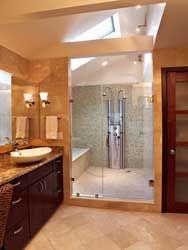 I like the idea of a wet room...