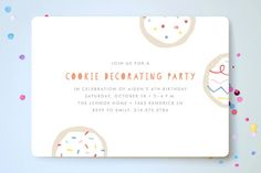 Sprinkles And Icing Children's Birthday Party Invitations by Amber Barkley at minted.com