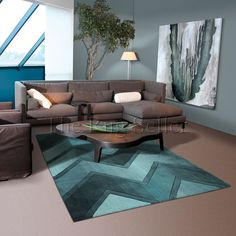 Digiworld rugs 5034 56 blue by arte espina buy online from the rug seller uk