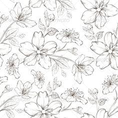 Cherry Blossom Pattern by Kotkoa Cherry blossom seamless pattern. Vector illustration.
