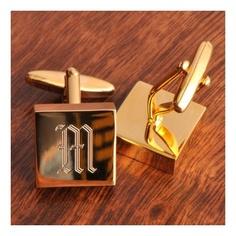 Personalized Addison High Polish Brass Cufflinks